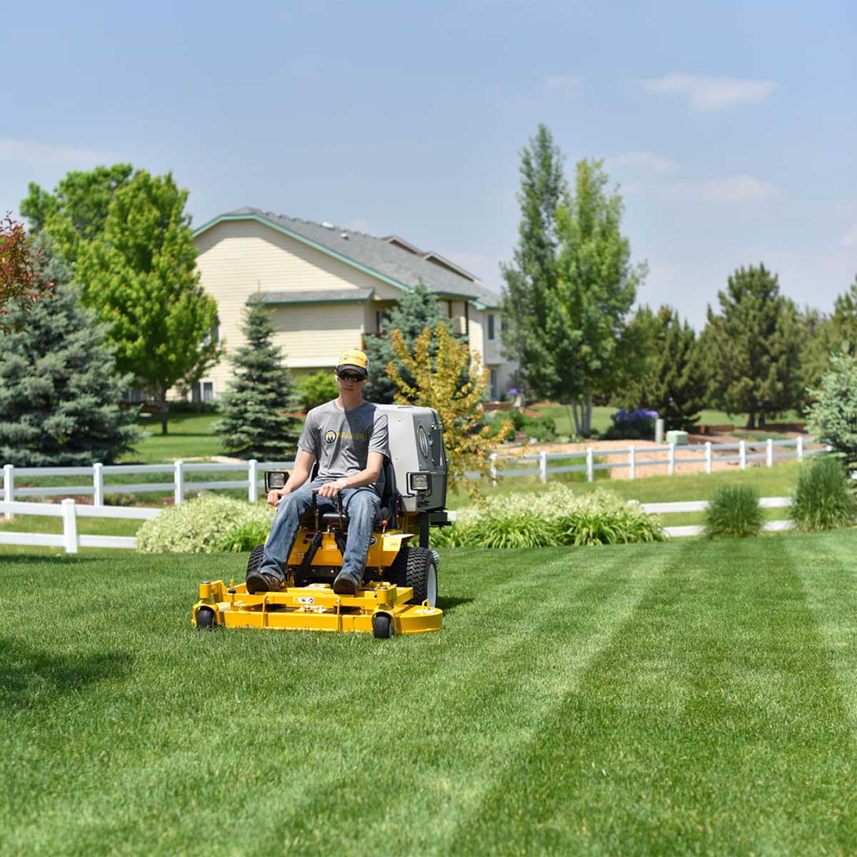 MC19 walker Mower - great lawn finish with the collection system