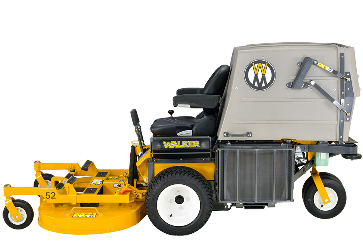 Walker Mower MD21 - well protected large cooling system