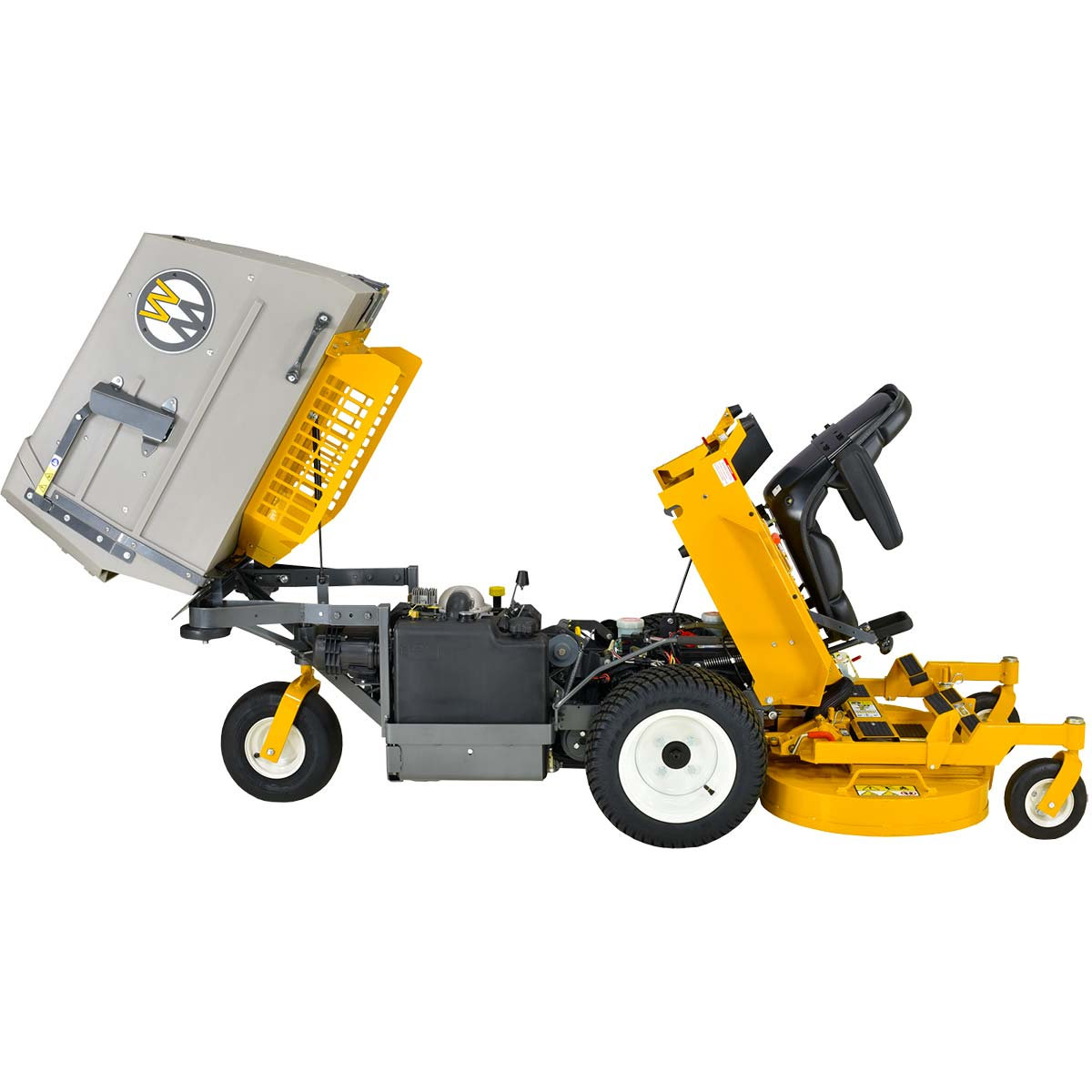 Walker MC19 with body tilted for cleaning and maintenance