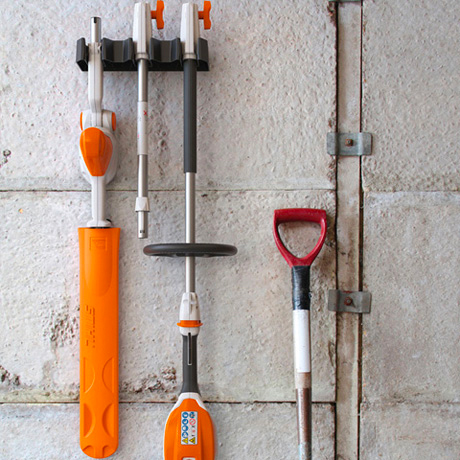STIHL HLA 56 Battery Hedger wall storage