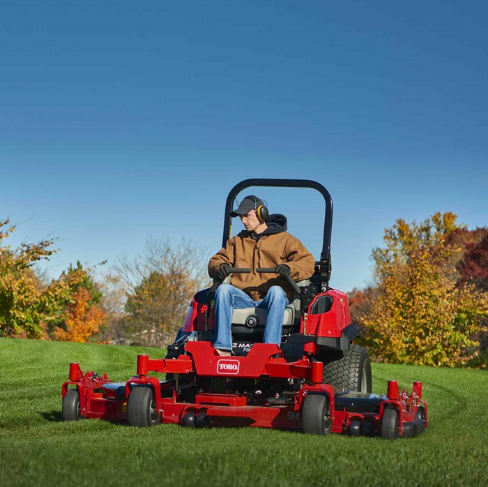 Toro Z Master 7500-D Diesel Wing Deck Mower in action