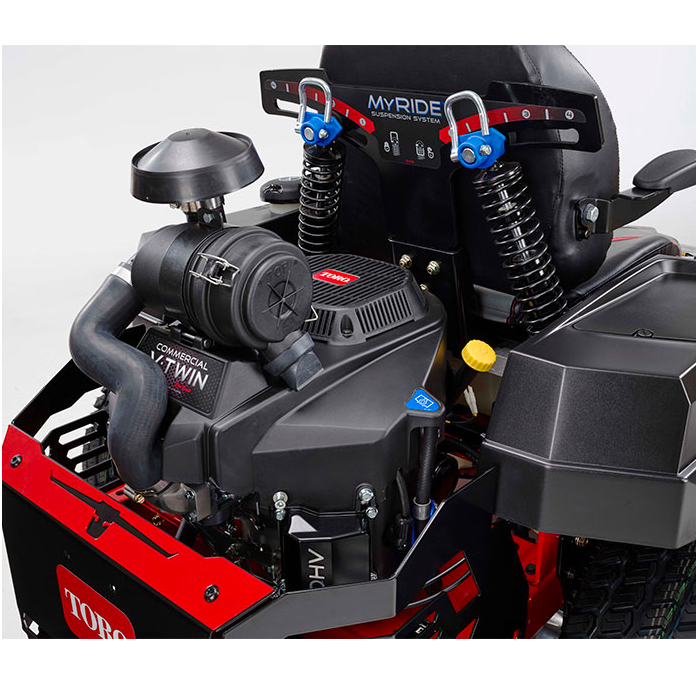 Titan pro engine features canister air cleaner and Myride suspension system