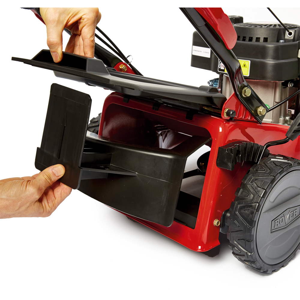Mulch plug option or large rear catcher