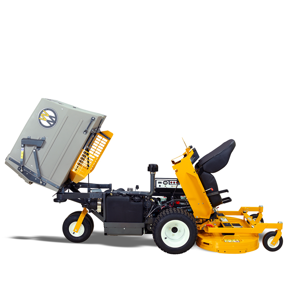 Walker Mower MT27i - body raised in service position