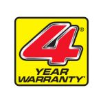 4 year Domestic Warranty - with a 3-year Commercial Engine Warranty