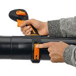 Tool-free adjustment of the handle position